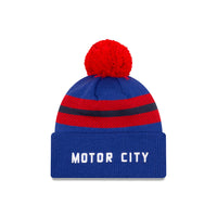 Detroit Pistons City Edition Wordmark Pom Knit NBA Beanie