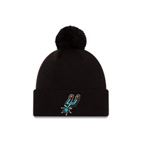 San Antonio Spurs City Edition Logo Pom Knit NBA Beanie