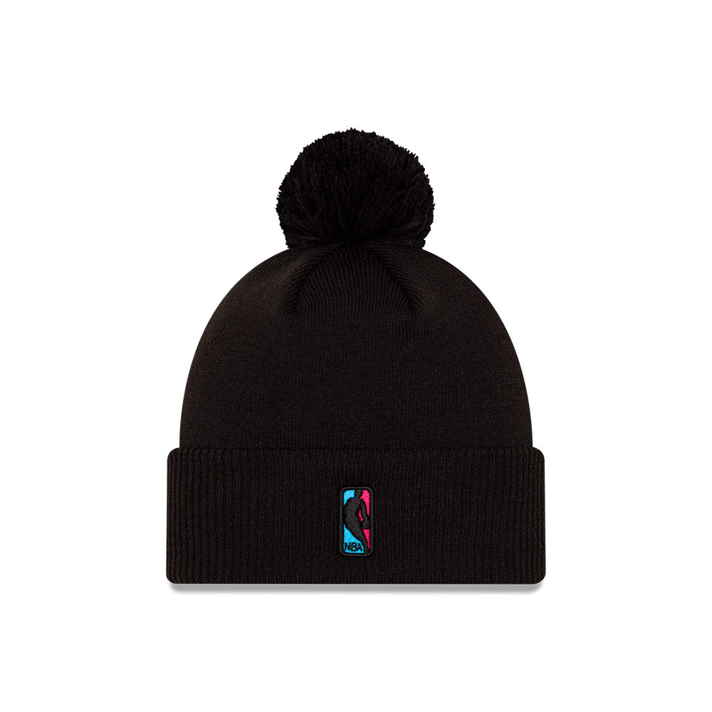 Miami Heat City Edition Logo Pom Knit NBA Beanie