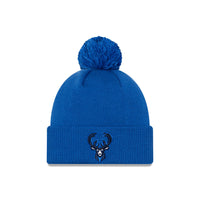 Milwaukee Bucks City Edition Logo Pom Knit NBA Beanie