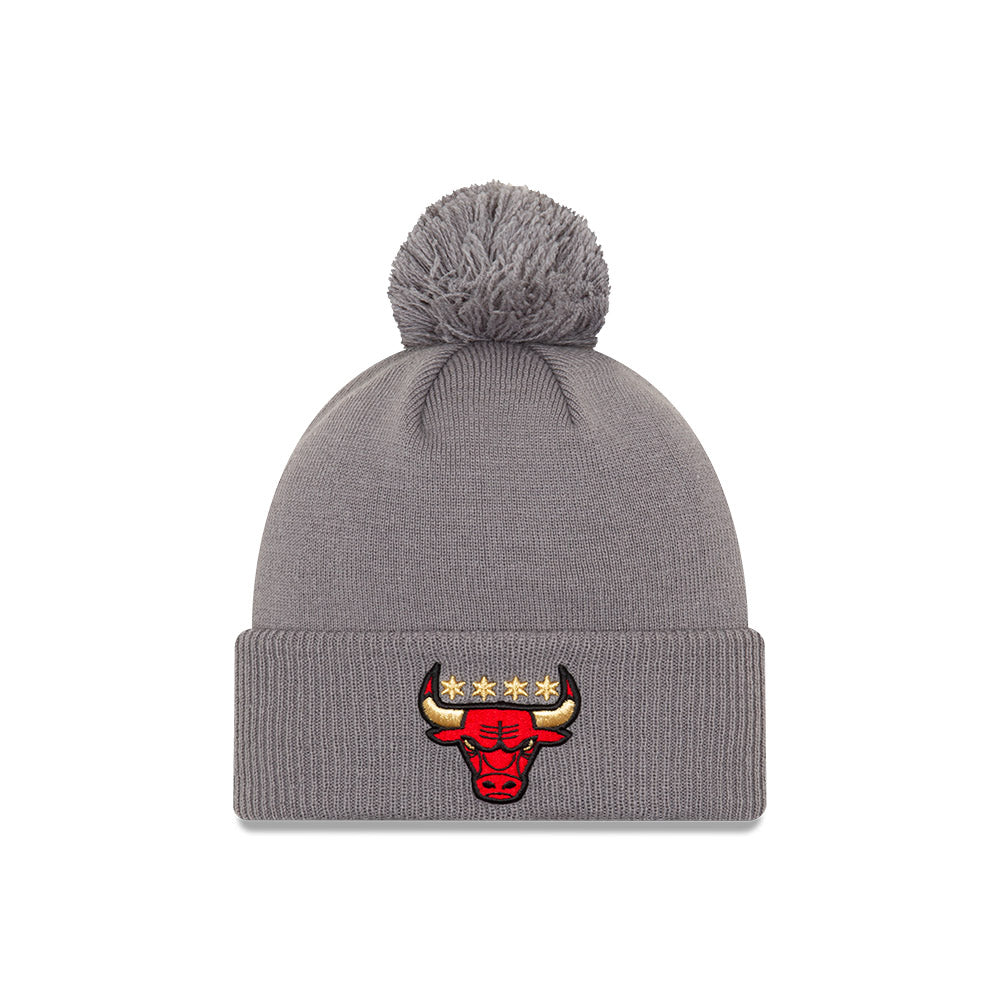 Chicago Bulls City Edition Logo Pom Knit NBA Beanie