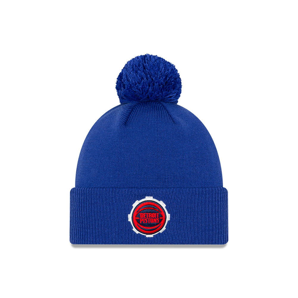 Detroit Pistons City Edition Logo Pom Knit NBA Beanie