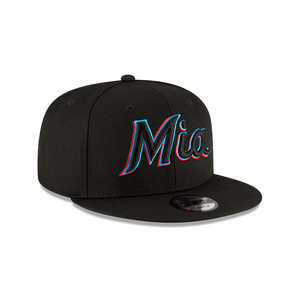 Miami Marlins 9FIFTY Ligature Collection MLB Snapback Hat