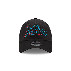 Miami Marlins 9TWENTY Ligature Collection NBA Strapback Hat