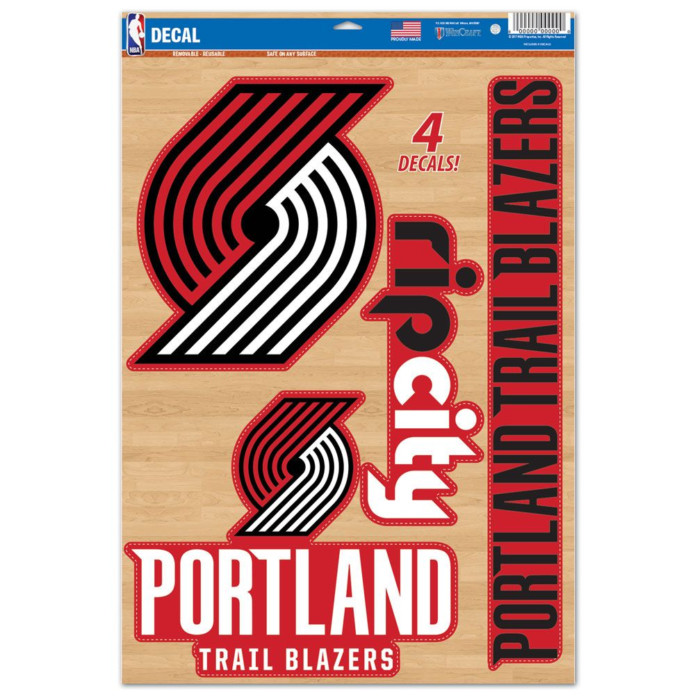 "Portland Trailblazers Decal 11"" x 17"" Stickers"