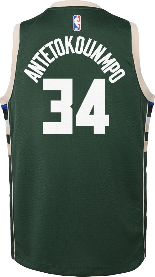 GIANNIS ANTETOKOUNMPO MILWAUKEE BUCKS NBA ICON YOUTH SWINGMAN JERSEY - Basketball Jersey World