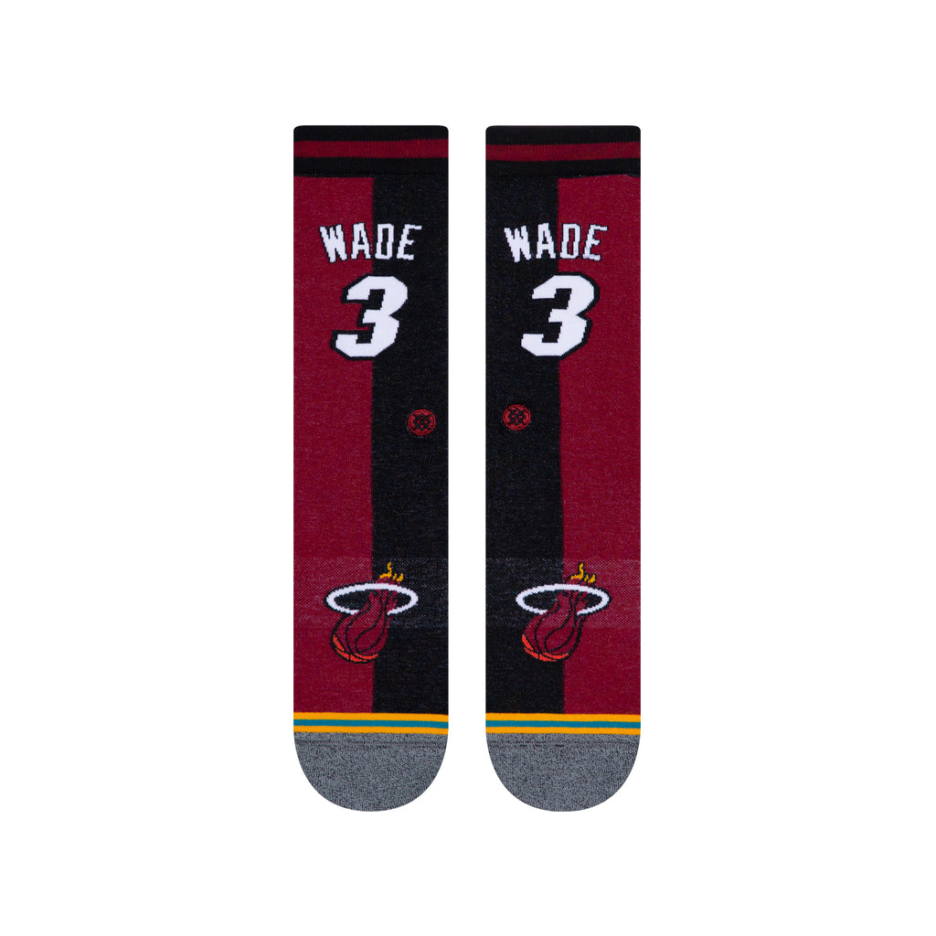 Dwyane Wade Miami Heat Hardwood Classics Name & Number NBA Socks