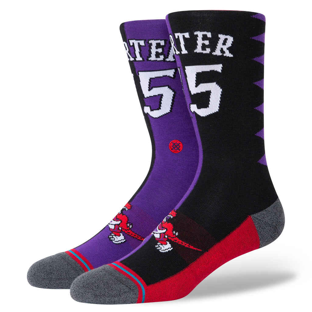 Vince Carter Toronto Raptors Hardwood Classics Name & Number NBA Socks