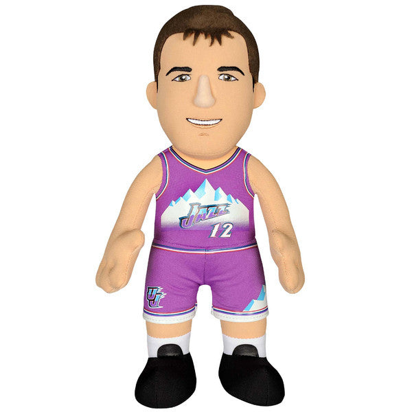 "JOHN STOCKTON UTAH JAZZ NBA BLEACHER CREATURE 10"" PURPLE PLUSH FIGURE"