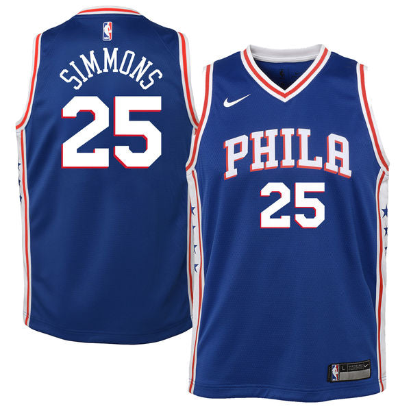 buy online 18c78 a6d5d Ben Simmons Philadelphia 76ers Icon Edition Youth NBA Swingman Jersey