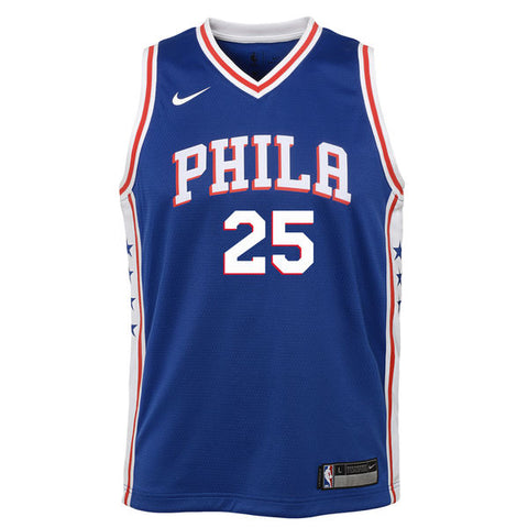 BEN SIMMONS PHILADELPHIA 76ERS NBA ICON YOUTH SWINGMAN JERSEY - Basketball Jersey World