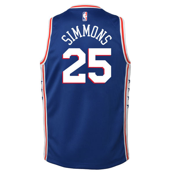 BEN SIMMONS PHILADELPHIA 76ERS NBA NIKE ICON YOUTH SWINGMAN JERSEY