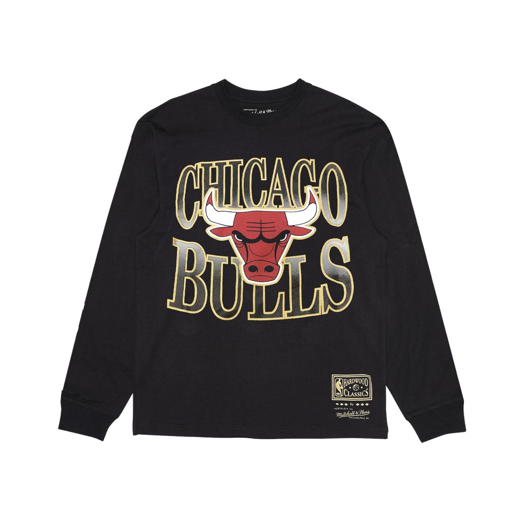 Chicago Bulls Vintage Back to Back Champions Oversized NBA Long Sleeve T-Shirt