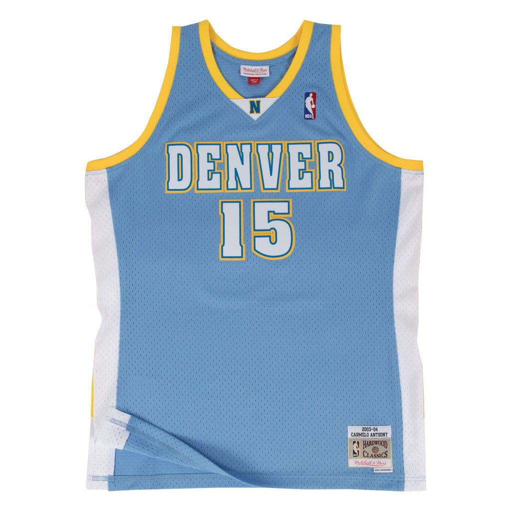 CARMELO ANTHONY DENVER NUGGETS NBA HARDWOOD CLASSICS THROWBACK ROOKIE SWINGMAN JERSEY - Basketball Jersey World