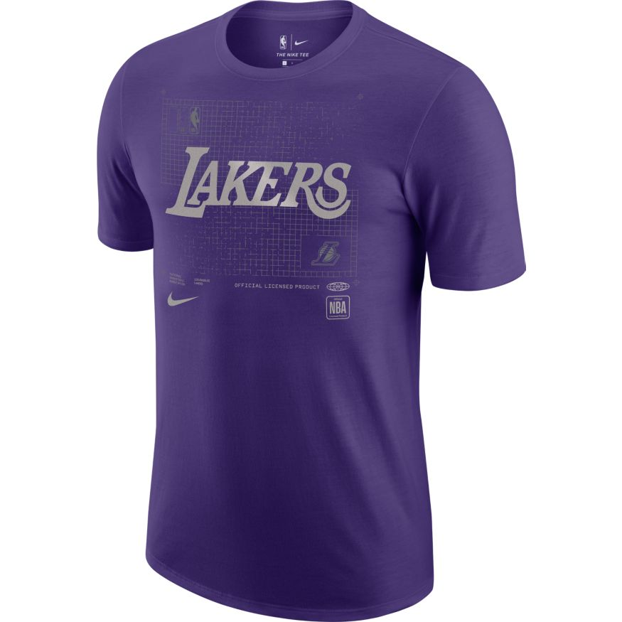 Los Angeles Lakers Courtside Chrome Logo NBA T-Shirt