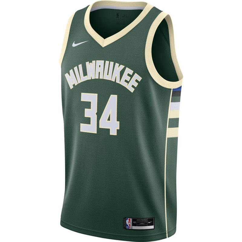 Giannis Antetokounmpo Milwaukee Bucks 2021 Icon Edition NBA Swingman Jersey