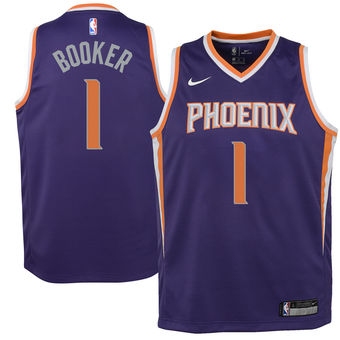 DEVIN BOOKER PHOENIX SUNS NBA NIKE ICON YOUTH SWINGMAN JERSEY