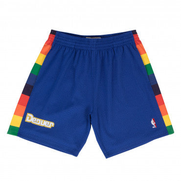 DENVER NUGGETS NBA HARDWOOD CLASSICS THROWBACK BLUE SWINGMAN SHORTS