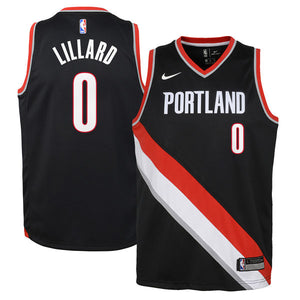 DAMIAN LILLARD PORTLAND TRAILBLAZERS NBA ICON YOUTH SWINGMAN JERSEY - Basketball Jersey World