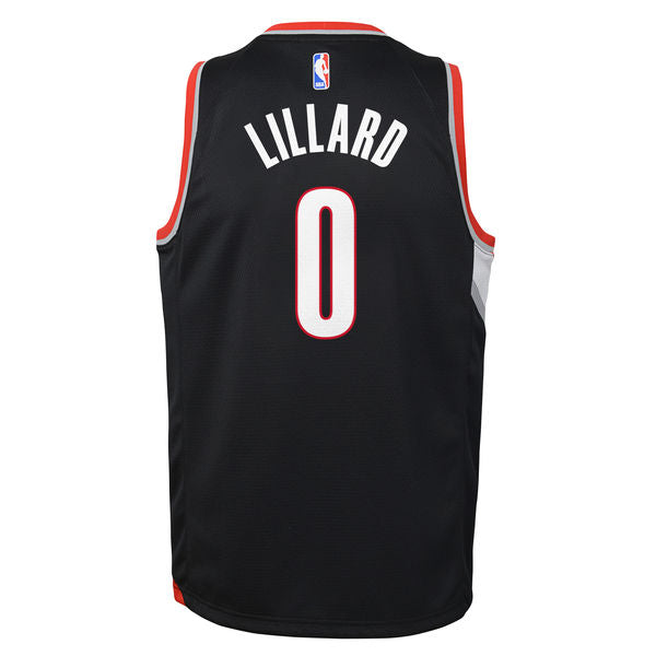brand new 56477 6f3fc Damian Lillard Portland Trailblazers Icon Edition Youth NBA Swingman Jersey