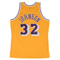 Magic Johnson Los Angeles Lakers Hardwood Classics Throwback NBA Swingman Jersey