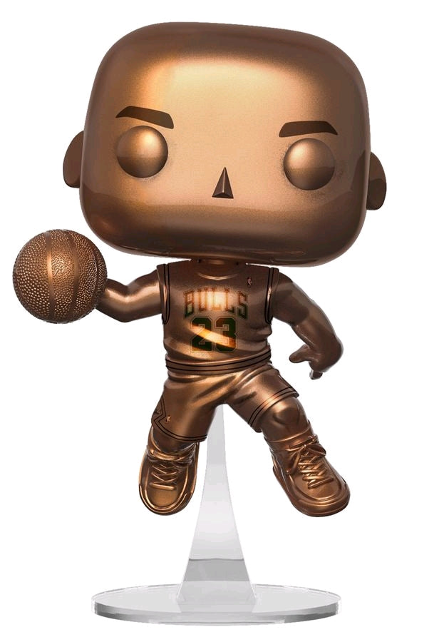 Michael Jordan Bronzed Chicago Bulls Slam Dunk Champion NBA Pop Vinyl