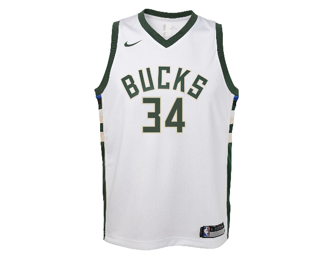 188c32e4c GIANNIS ANTETOKOUNMPO MILWAUKEE BUCKS NBA ASSOCIATION YOUTH SWINGMAN JERSEY  - Basketball Jersey World