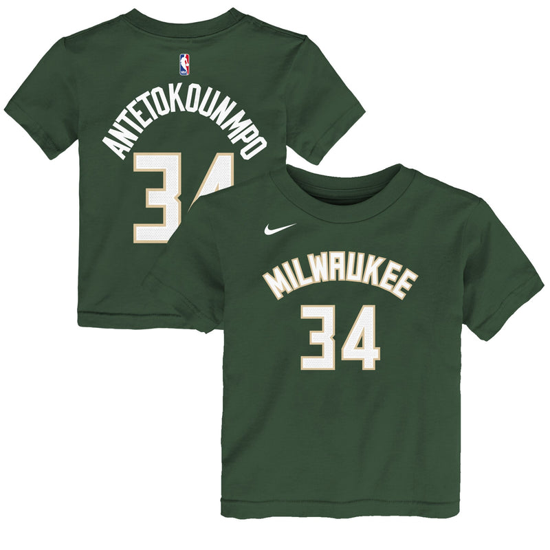 Giannis Antetokounmpo Milwaukee Bucks Icon Edition Boys NBA T-Shirt