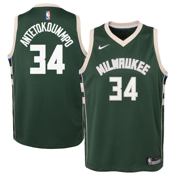 GIANNIS ANTETOKOUNMPO MILWAUKEE BUCKS NBA NIKE ICON YOUTH SWINGMAN JERSEY