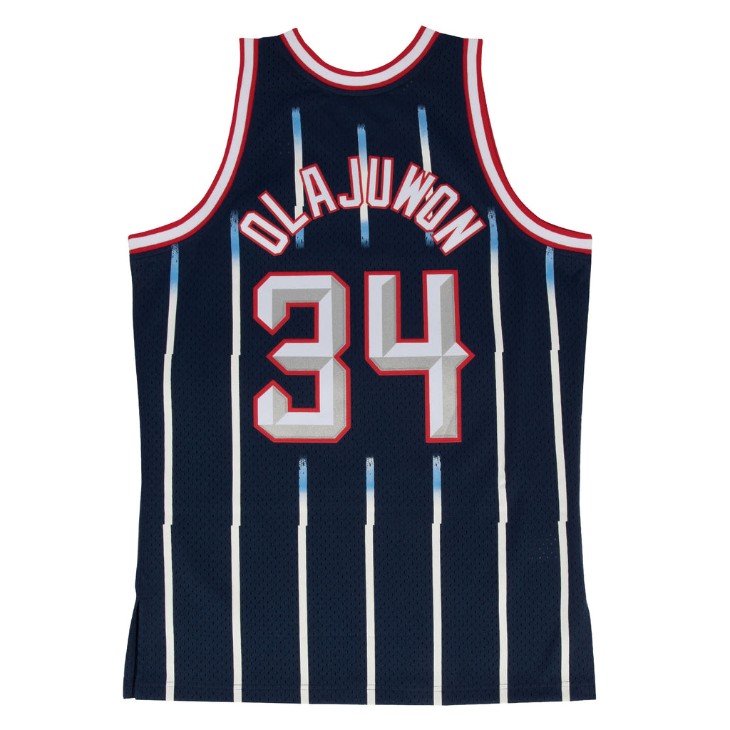 HAKEEM OLAJUWON HOUSTON ROCKETS NBA HARDWOOD CLASSIC THROWBACK SWINGMAN JERSEY - Basketball Jersey World