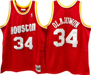 HAKEEM OLAJUWON HOUSTON ROCKETS NBA HARDWOOD CLASSICS SWINGMAN JERSEY - Basketball Jersey World