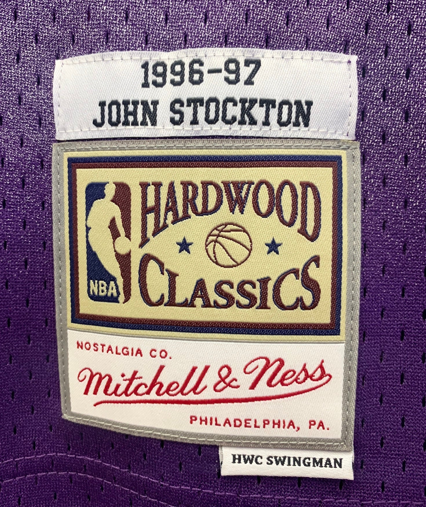 newest 228c9 b5fe4 John Stockton Utah Jazz Hardwood Classics Throwback NBA Swingman Jersey