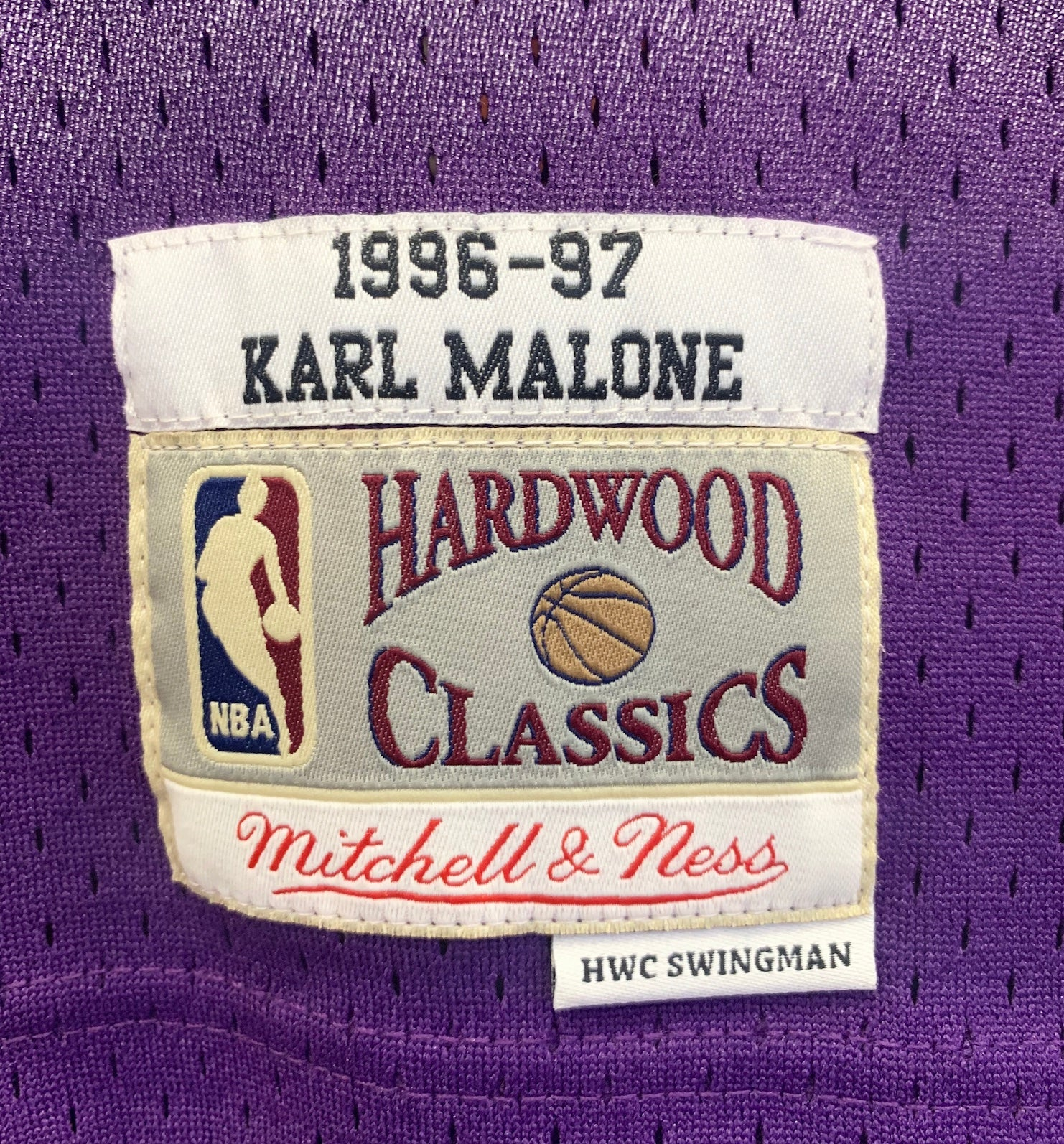 sports shoes c70ef 33c3e Karl Malone Utah Jazz Hardwood Classics Throwback NBA Swingman Jersey