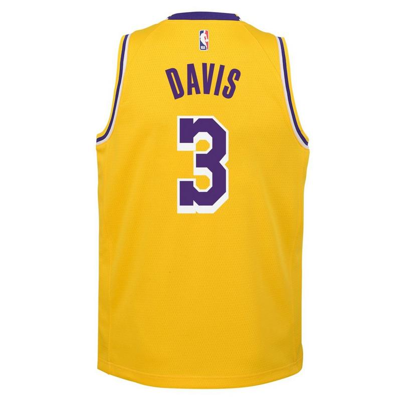 Anthony Davis Los Angeles Lakers 2021 Icon Edition Youth NBA Swingman Jersey