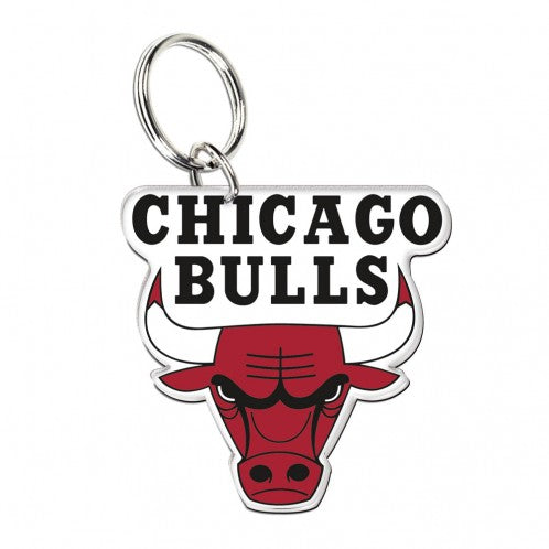 CHICAGO BULLS TEAM LOGO KEYRING
