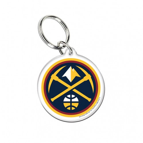 Denver Nuggets Premium Acrylic Team Logo NBA Keyring