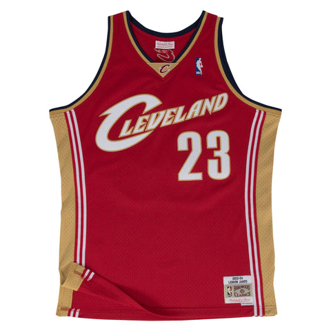 LEBRON JAMES CLEVELAND CAVALIERS NBA HWC THROWBACK ROOKIE SWINGMAN JERSEY
