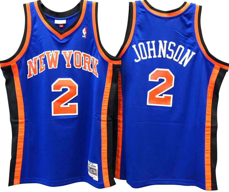 on sale f7fab e586a Larry Johnson New York Knicks Hardwood Classic Throwback NBA ...