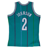 Larry Johnson Charlotte Hornets Hardwood Classics Throwback NBA Swingman Jersey