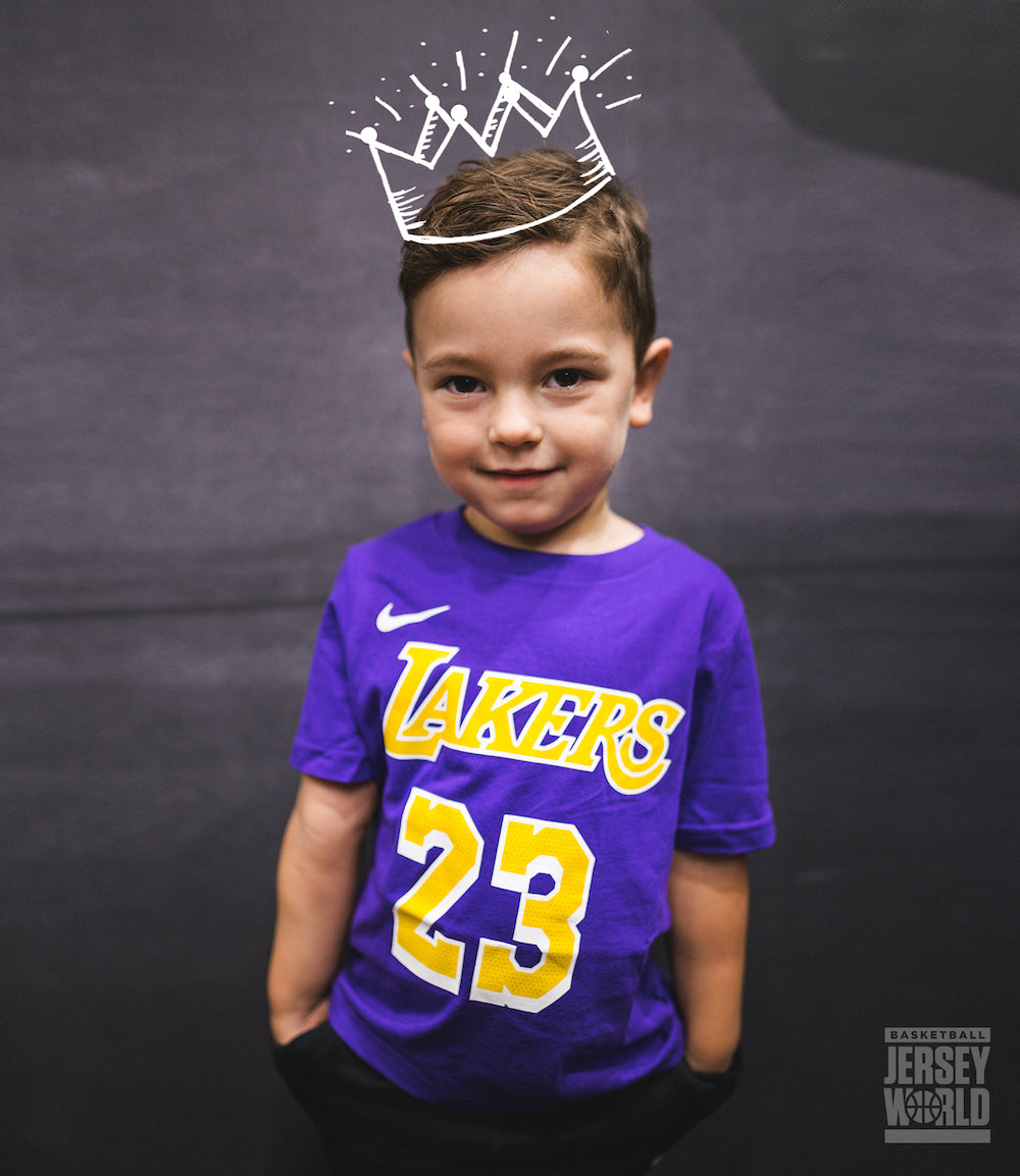 wholesale dealer f1c4b ef2cf LeBron James Los Angeles Lakers Statement Edition Toddler ...