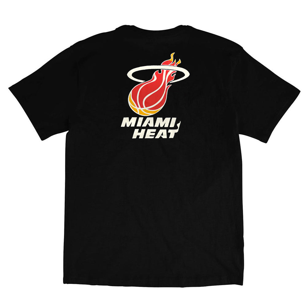 Miami Heat Retro Repeat Logo NBA T-Shirt