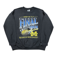 Michigan Wolverines Vintage Final Four NCAA Crew Jumper