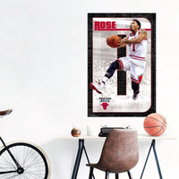 Derrick Rose Chicago Bulls NBA Wall Poster