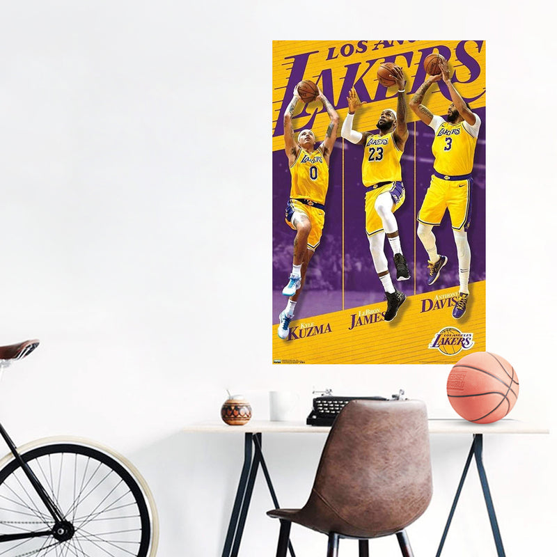 Los Angeles Lakers Team Players NBA Wall Poster