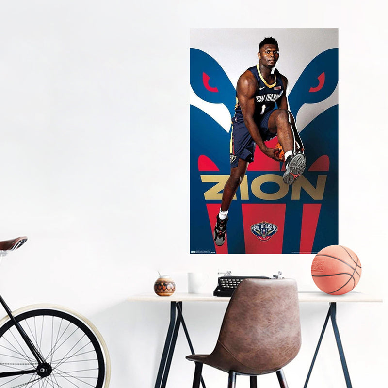 Zion Williamson New Orleans Pelicans NBA Wall Poster