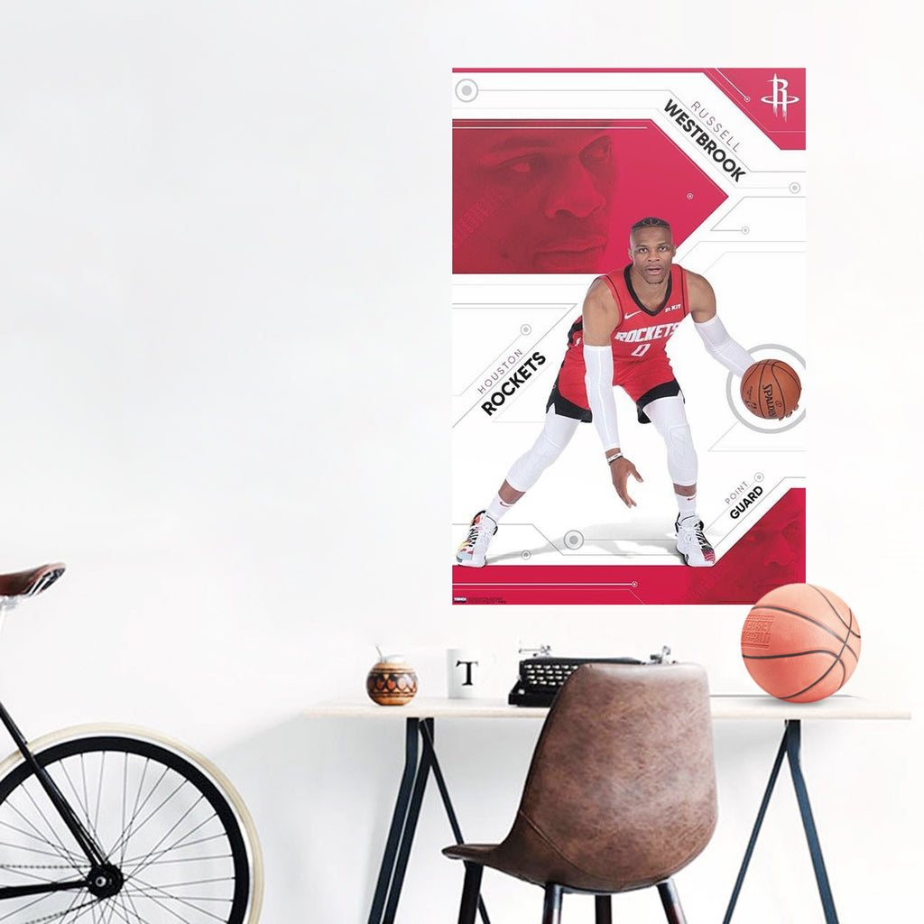 Russell Westbrook Houston Rockets NBA Wall Poster