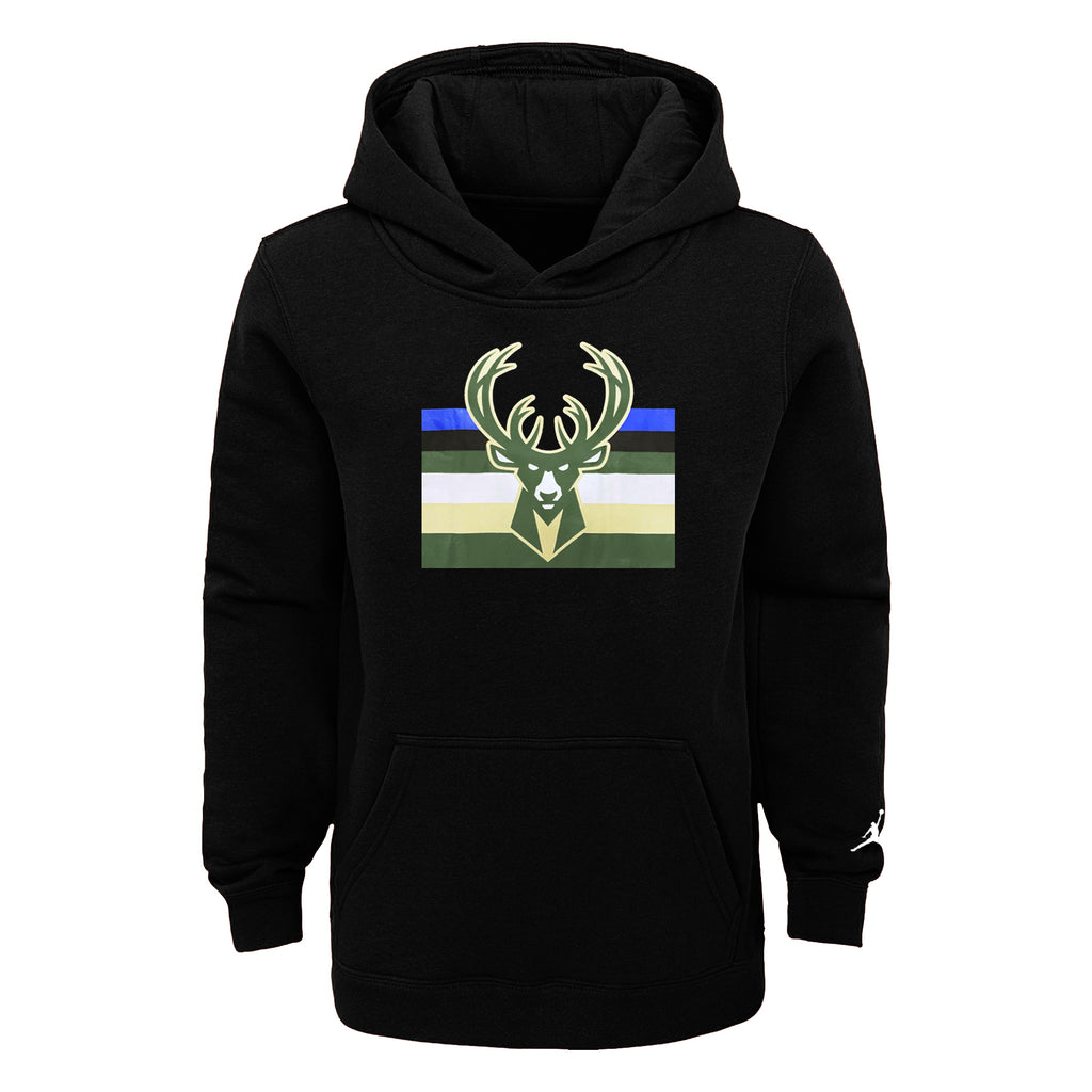 Milwaukee Bucks Statement Edition Essential Logo Youth NBA Hoodie