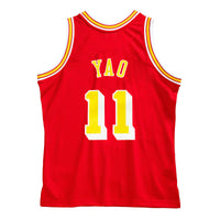 Yao Ming Houston Rockets Hardwood Classics Throwback NBA Swingman Jersey