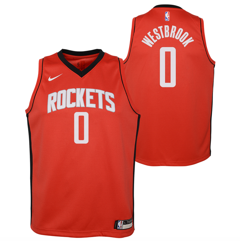 Russell Westbrook Houston Rockets 2021 Icon Edition Youth NBA Swingman Jersey