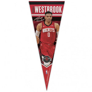 Russell Westbrook Houston Rockets NBA Premium Pennant